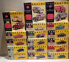 A 20TH CENTURY COLLECTION OF SEVENTEEN VANGUARDS MODEL CARS AND VANS