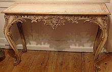 A 19TH CENTURY ITALIAN CONSOLE TABLE