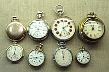 A COLLECTION OF EARLY 20TH CENTURY POCKET WATCHES