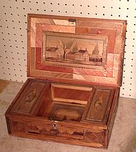 A 19TH CENTURY FRENCH PRISONER OF WAR DESK BOX