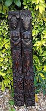 A PAIR OF 18TH CENTURY FRENCH OAK CARVINGS Of a m