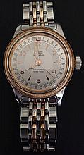 A GENTLEMEN'S ORIS TWO COLOUR WRIST WATCH With in