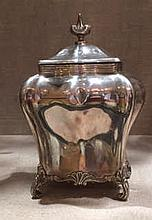 A 20TH CENTURY ENGLISH HALLMARKED SILVER TEA CADD