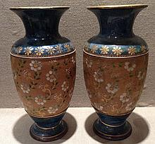 A PAIR OF ROYAL DOULTON SLATERS VASES Along with