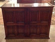 A LATE VICTORIAN OAK WALL MOUNTING CUPBOARD The t
