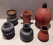 JOHN LEACH, A COLLECTION OF STUDIO POTTERY VASES