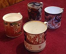 A GROUP OF FOUR EARLY 19TH CENTURY PORCELAIN COFFEE CANS To include Mi