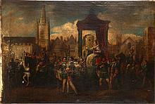 FOLLOWER OF ROBERT PEAKE THE ELDER, 1551 - 1619, OIL ON CANVAS 'The Pr