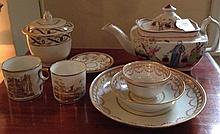 A COLLECTION OF LATE 18TH/EARLY 19TH CENTURY NEWHALL PORCELAIN To incl