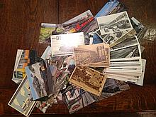 A COLLECTION OF 100+ POSTCARDS Relating to public transport.