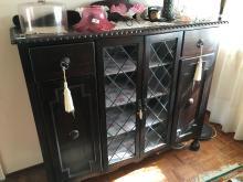Jacobean Sideboard with Leadlight Doors