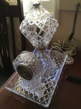 Crystal Clock Light and Tray