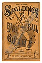 (BASEBALL--19TH CENTURY.) [Spalding, Albert G.; editor.] Spalding's Base Ball Guide and Official League Book for 1880.