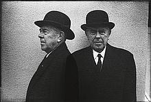 MICHALS, DUANE (1932- ) Rene Magritte.