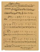 EMMETT, DANIEL D. Autograph Manuscript Inscribed and Signed, twice, to Dewitt Miller, fair copy of the complete music and lyrics for hi