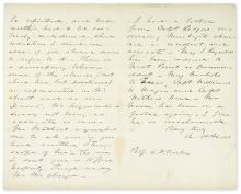 HILL, AMBROSE POWELL. Autograph Letter Signed,