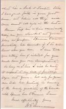 "SHERMAN, WILLIAM TECUMSEH. Autograph Letter Signed, ""W.T. Sherman,"" to Mrs. Joseph C. Audenried (""Dear Mrs. Audenried""),"