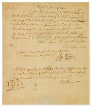 THOMSON, CHARLES. Group of 5 items Signed, or Signed and Inscribed,