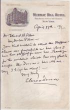 DARROW, CLARENCE. Autograph Letter Signed, to Edward A. Filene,