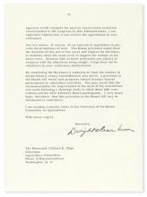 EISENHOWER, DWIGHT D. Typed Letter Signed, as President, to Representative Clifford R. Hope,