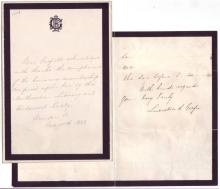 GARFIELD, LUCRETIA. Two items Signed: Autograph Letter * Autograph Note.