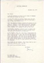 BERLIN, IRVING. Typed Letter Signed,