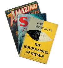 BRADBURY, RAY. The Golden Apples of the Sun * S is for Space.