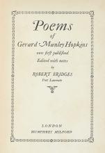 HOPKINS, GERARD MANLEY. Poems.