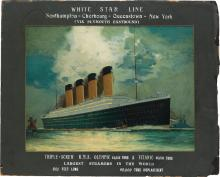 JAMES SCRIMGEOUR MANN (1883-1946). WHITE STAR LINE / R.M.S. OLYMPIC & TITANIC. Circa 1911. 20x24 inches, 50x63 cm. T. Forman & Sons, No