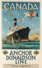 ODIN ROSENVINGE (1880-1957). CANADA / ANCHOR DONALDSON LINE. Circa 1920. 40x25 inches, 101x63 cm. Turner & Cunnett Ltd., Liverpool.