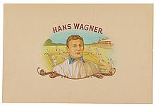 (BASEBALL.) Artwork for a cigar box label depicting Hans Wagner.