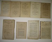 (AMERICAN INDIANS.) Group of 9 early 19th-century pamphlets and government documents.
