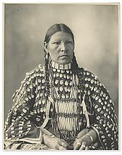 (AMERICAN INDIANS--PHOTOGRAPHS.) Rinehart, Frank A. Freckled Face, Arapahoe.
