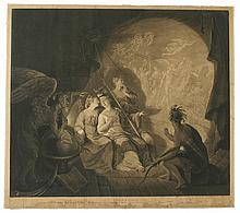 (AMERICAN REVOLUTION--PRINTS.) Dixon, John; artist and engraver. The Oracle, Representing Britannia, Hibernia, Scotia, & America,