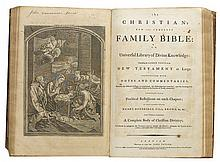 (BIBLE IN ENGLISH.) [The Christian's New and Complete Family Bible.]