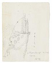 (COLORADO.) Manuscript map of the Battle of Milk Creek.