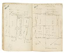(NEW YORK CITY.) Archive of manuscript field notebooks of the Bridges family surveying firm.