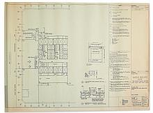 (NEW YORK CITY.) Switzer Group. Site plan for proposed renovations on the 23rd floor of the World Trade Center's south tower.
