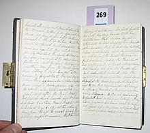 (VIRGINIA.) Travel diary describing Jefferson Davis's day in court in Richmond, and his release from prison.