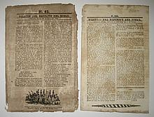 (MEXICO.) Group of 15 documents from the short-lived Republic of Yucatán.