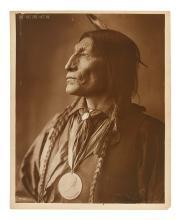 (AMERICAN INDIANS--PHOTOGRAPHS.) Rinehart, Frank A. Chief Wolf Robe, Cheyenne.