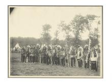 (AMERICAN INDIANS--PHOTOGRAPHS.) Rinehart, Frank A. Band of Sioux Warriors.