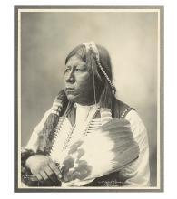 (AMERICAN INDIANS--PHOTOGRAPHS.) Rinehart, Frank A. Chief Grant Richards, Tonkawa.