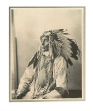 (AMERICAN INDIANS--PHOTOGRAPHS.) Rinehart, Frank A. Kill Spotted Horse (Assinaboines).
