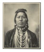 (AMERICAN INDIANS--PHOTOGRAPHS.) Rinehart, Frank A. Thunder Cloud, Blackfeet.