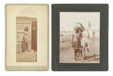 (AMERICAN INDIANS--PHOTOGRAPHS.) Pair of cabinet card portraits.