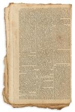 (AMERICAN REVOLUTION.) Bound volume of the Connecticut Journal featuring the Tea Party and Bunker Hill.