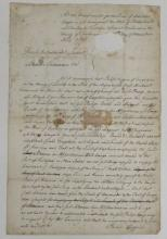 (AMERICAN REVOLUTION.) Higgins, Philip. Protest by a loyal American whose ship had been seized.