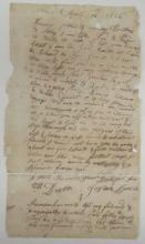 (AMERICAN REVOLUTION.) Lovell, Josiah. A Massachusetts private announces his regiment's departure for Quebec.