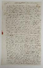 (AMERICAN REVOLUTION.) Waterbury, Silvanus. Letter describing privations on the Hudson just before the Declaration of Independence.